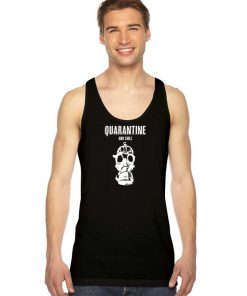 Quarantine And Chill Gas Mask Logo Tank Top