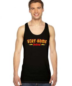 Stay Home Festival Metal Style Logo Tank Top