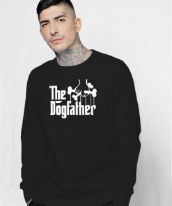 The Dogfather Dog Lover Metal Style Sweatshirt