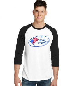 United States Flag I Went Outside Raglan Tee
