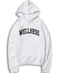 Wellness Sporty And Rich Jersey Logo Hoodie