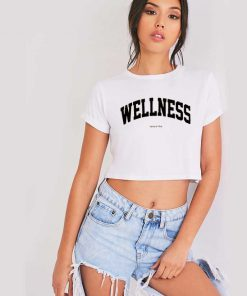 Wellness Sporty And Rich Jersey Logo Crop Top Shirt