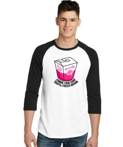 Brain Eater Zombie Food Corp 100% Frech Brain Raglan Tee