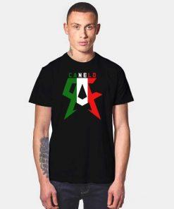 Canelo Alvarez Team Canelo Italian Flag Pattern T Shirt