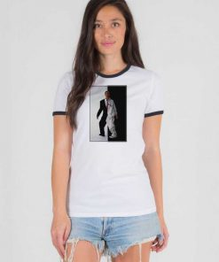 Eminem Black And White Rap God Ringer Tee