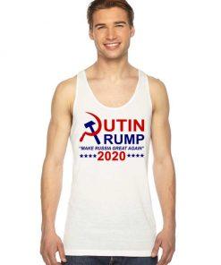 Putin Trump 2020 Make Russia Great Again Tank Top