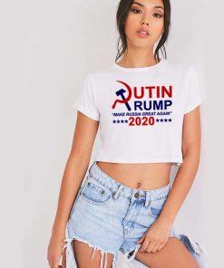 Putin Trump 2020 Make Russia Great Again Crop Top Shirt