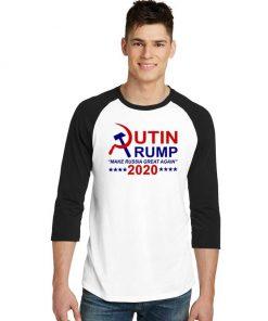 Putin Trump 2020 Make Russia Great Again Raglan Tee