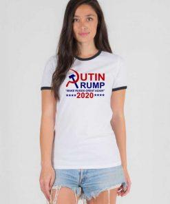 Putin Trump 2020 Make Russia Great Again Ringer Tee