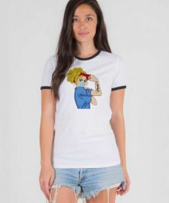 Rosie The Riveter The Strong Nurse Ringer Tee