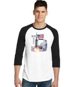 SpaceX Launch Nasa America Countdown Raglan Tee