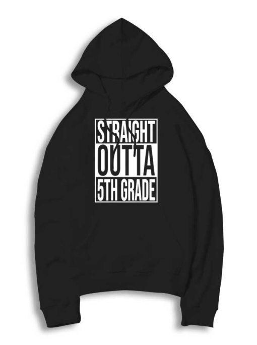 Straight Outta 5th Grade Logo Parody Hoodie