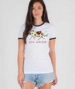 The Walking Dead Dog Walker Zombie Ringer Tee