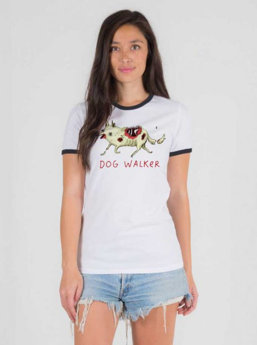 The Walking Dead Dog Walker Zombie Ringer Tee