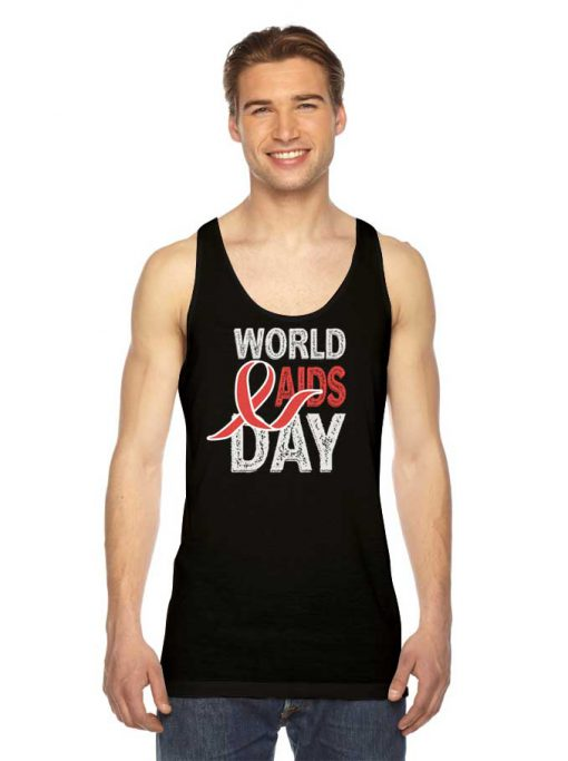 World Aids & HIV Day Retro Logo Tank Top
