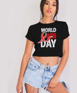 World Aids & HIV Day Retro Logo Crop Top Shirt