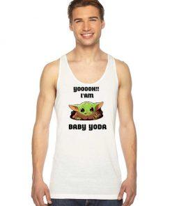 Yoooh Hello I Am Baby Yoda Quote Tank Top