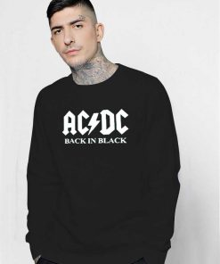 ACDC Band Back In Black Logo Sweatshirt
