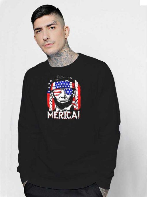 Abraham Lincoln The America Flag Sweatshirt