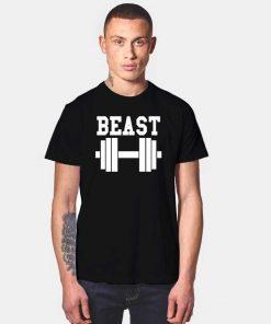 Beast Gym Dumbbell Cute Couple T Shirt