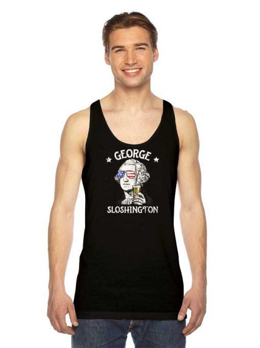 George Sloshington Washington American Flag Tank Top