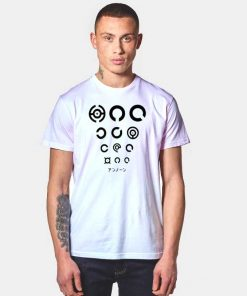 Monster Pokemon Unown Circles Logo T Shirt