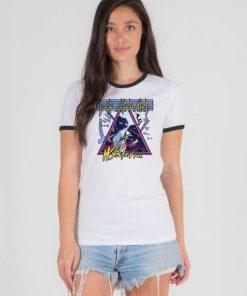 Def Leppard Hysteria Band Logo Ringer Tee