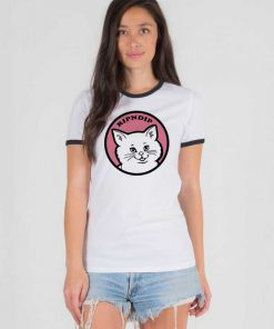 Stop Being A Pussy RipNDip Logo Ringer Tee