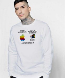 This Is Your Brain On Drugs Funny Computer Sweatshirt