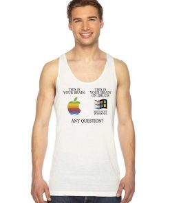 This Is Your Brain On Drugs Funny Computer Tank Top