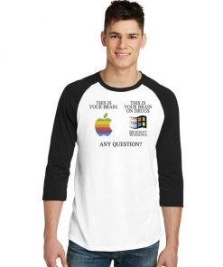 This Is Your Brain On Drugs Funny Computer Raglan Tee