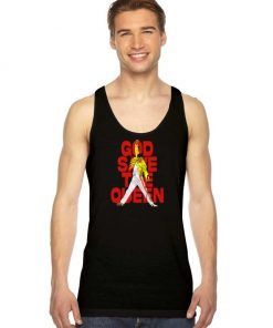 God Save The Queen And Freddie Tank Top