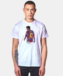 Lionel Messi 10 Watercolor Art T Shirt
