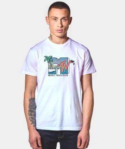 MTV Beach Island Flamingo Pink T Shirt