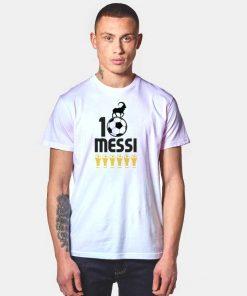 Messi 10 GOAT Six Ballon d'Or T Shirt