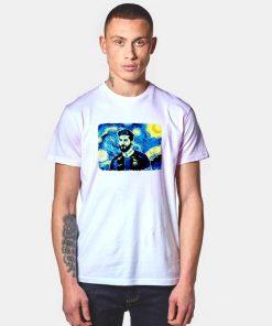Messi Starry Night Van Gogh Style T Shirt