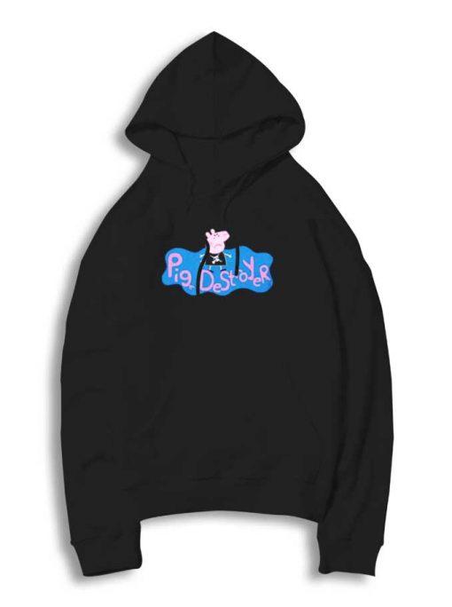 Peppa Pig The Pig Destroyer Punk Hoodie
