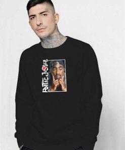 Poetic Justice In Deep Thought 2pac Sweatshirt