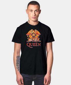 Queen Official Classic Fire Crest T Shirt