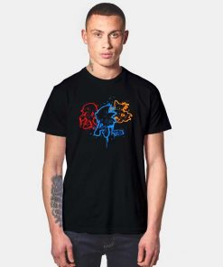 Sonic and Friends Spray Paint Drip T Shirt