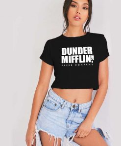 The Office Dunder Mifflin Paper Company Crop Top Shirt