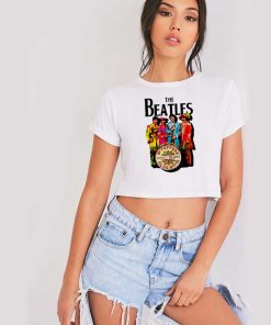 Vintage The Beatles Lonely Hearts Sergeant Crop Top Shirt