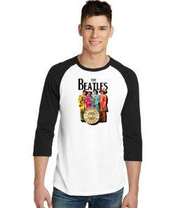 Vintage The Beatles Lonely Hearts Sergeant Raglan Tee