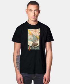 Godzilla Japanese King Kaiju Ukiyo-e Art T Shirt