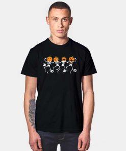 Halloween Soccer Player Pumpkin Skeletons Dance T Shirt
