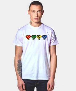 Harry Potter Hogwarts House Heart Pixelated T Shirt