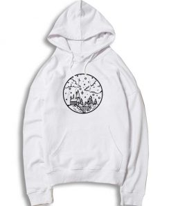 Hogwarts Castle Sky Picture Drawing Hoodie
