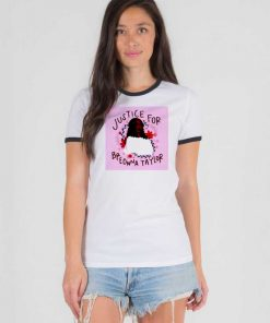 Justice For Breonna Taylor Floral Photo Ringer Tee