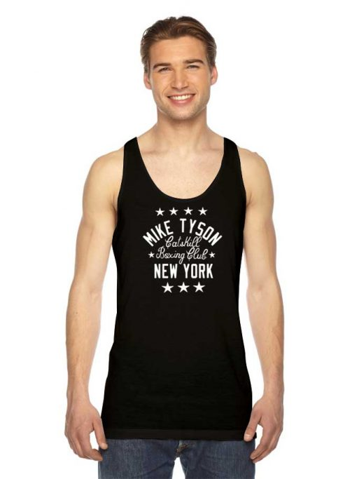Mike Tyson Catskill New York Muscle Boxing Club Tank Top