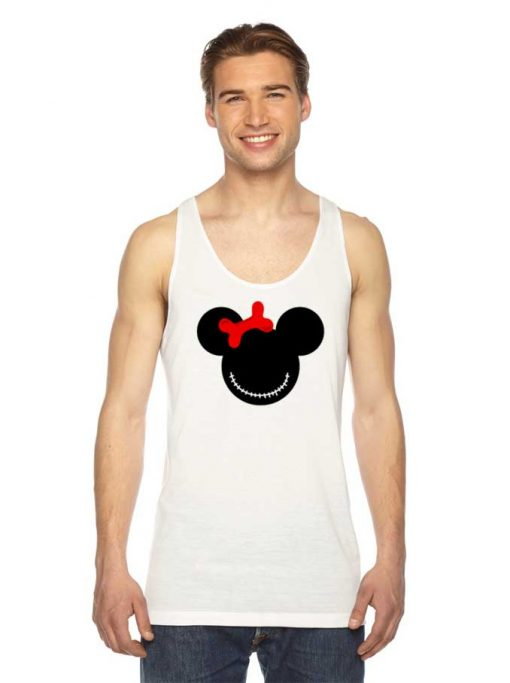 Minnie Mouse Halloween Scary Face Tank Top